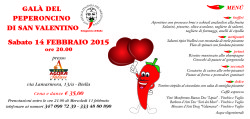 Accademia del Peperoncino cena S VALENTINO 2015